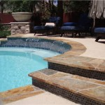 Flagstone Coping Example Pool Northern VA