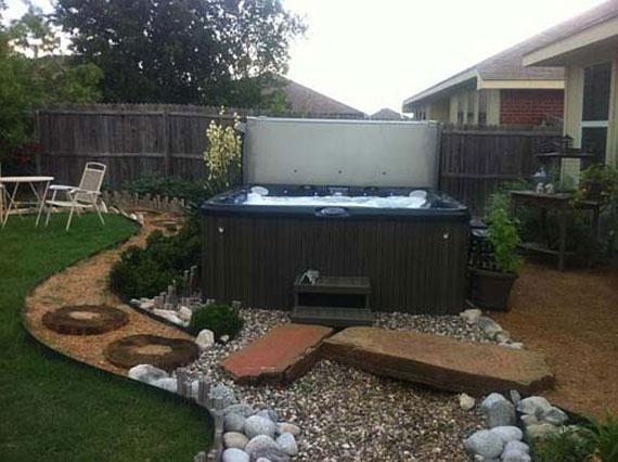 Outdoor jacuzzi integration pool design contractor va for Outdoor spa decorating ideas