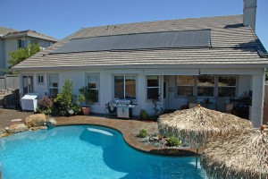 Residential Solar Heated Pool