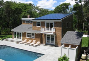 Two Story Home With Solar Panels For Pool