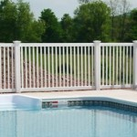 Vinyl Pool Fencing Example Fairfax County VA