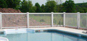 Vinyl Pool Fencing Example Fairfax County VA