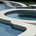 Curved pool-coping Northern VA Fairfax