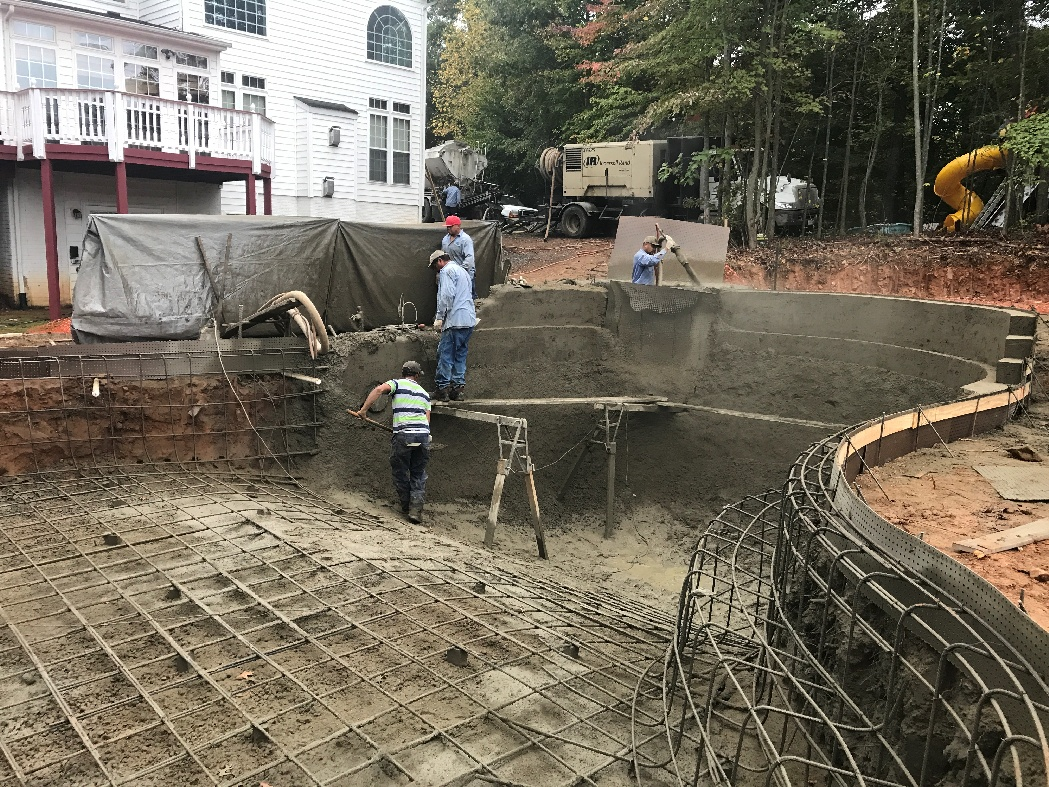 Fairfax va pool project 2017 for Pool design and construction